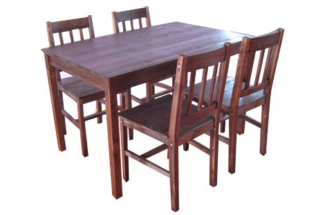 BROWN PINE DINING TABLE