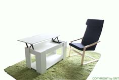 SIMPLE LIFT TOP COFFEE TABLE WITH RELAX CHAIR